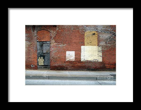 Brick Walls Framed Print featuring the photograph Brick Wall 2 Of Four by Walter Oliver Neal