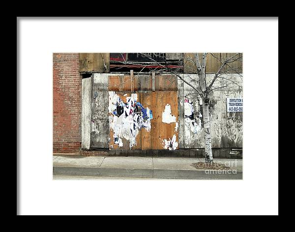 Brick Walls Framed Print featuring the photograph Brick Wall 4 Of Four by Walter Oliver Neal