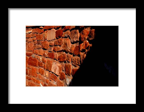 Landscape Framed Print featuring the photograph Brick Wall by Jennilyn Benedicto