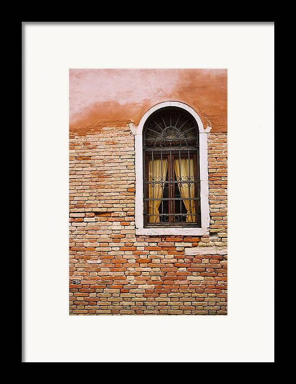 Window Framed Print featuring the photograph Brick Window by Kathy Schumann