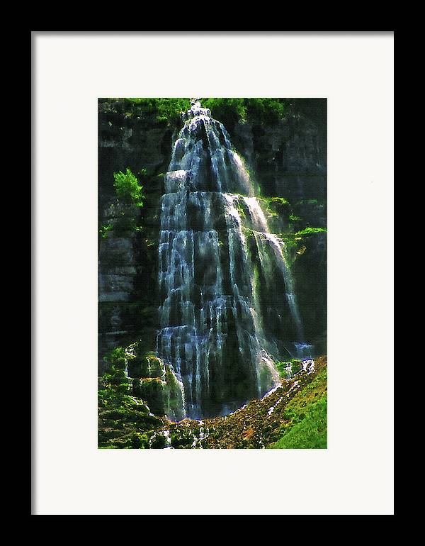 Water Framed Print featuring the photograph Bridal Veil Falls Canvas 2 by Steve Ohlsen