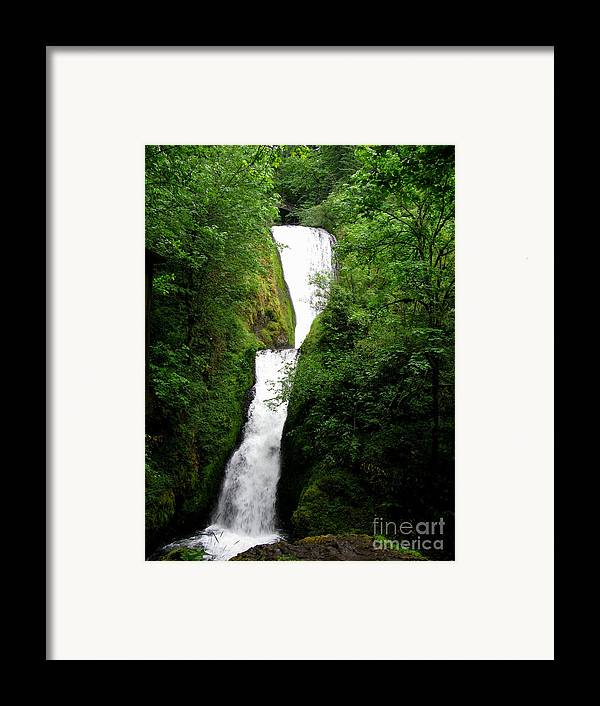 Waterfall Framed Print featuring the photograph Bridal Veil Falls by PJ Cloud