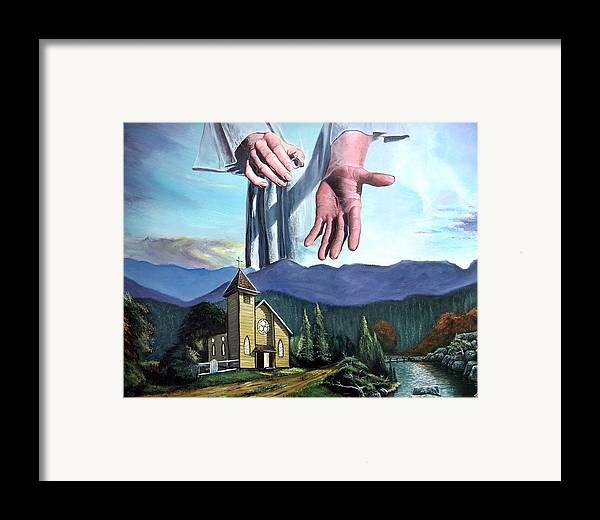 Bridegroom Framed Print featuring the painting Bridegroom by Larry Cole