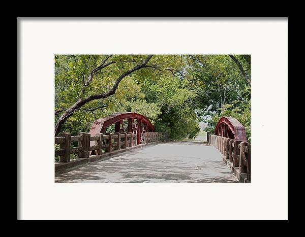 Landscape Framed Print featuring the photograph Bridge 1 by Chuck Shafer