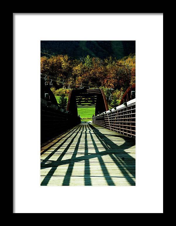 Photograph Framed Print featuring the photograph Bridge At Killington by Susan Schumann