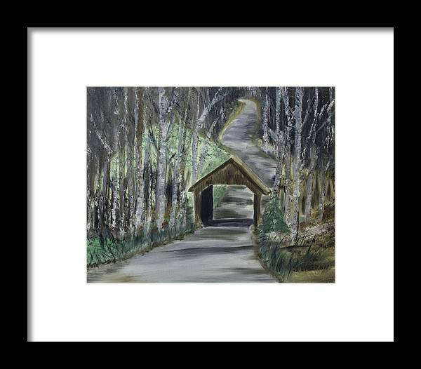 Covered Bridge Framed Print featuring the photograph Covered Bridge Sleeping Bear Dunes by Jim McGraw