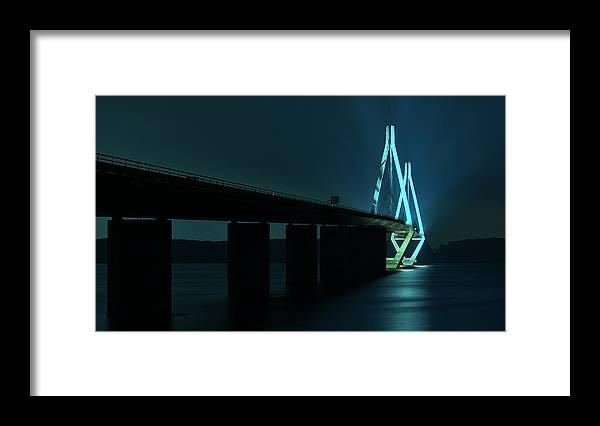 Bridge Framed Print featuring the photograph Bridge By Night by Jan Boesen