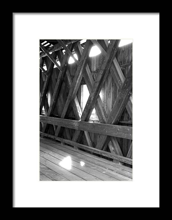 Covered Bridge Framed Print featuring the photograph Bridge Glow by Greg Fortier