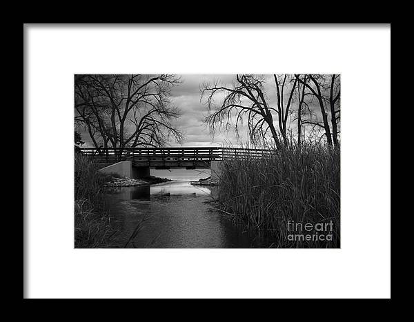 Bridge Framed Print featuring the photograph Bridge In Black And White by KG Photography