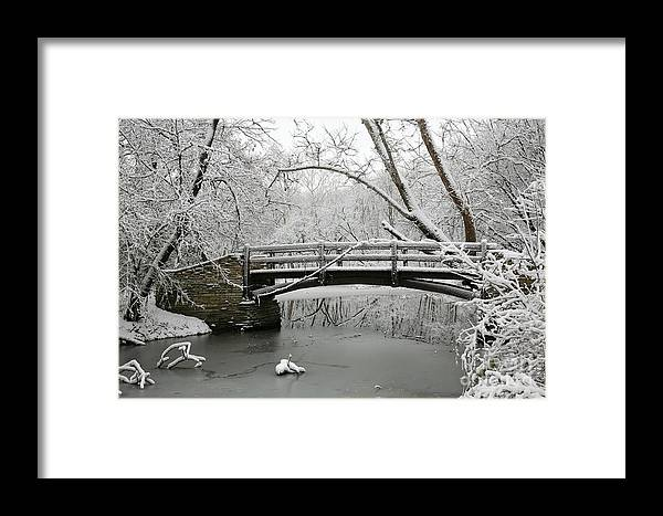 Bridge Framed Print featuring the photograph Bridge In Winter by Timothy Johnson