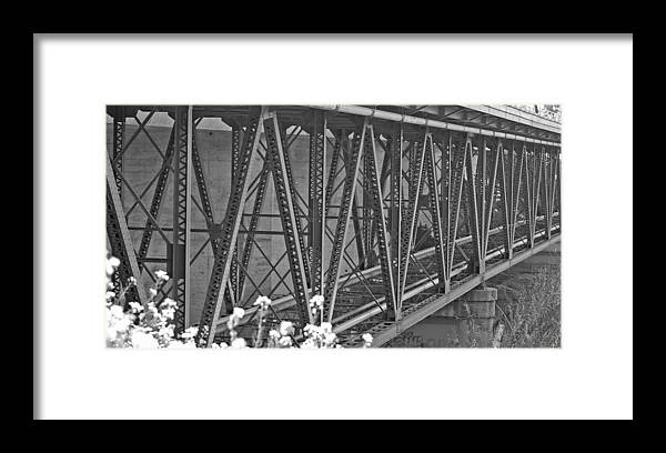 Bridge Framed Print featuring the photograph Bridge by Jean Booth