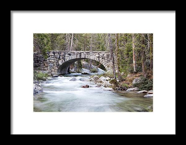 Sequoia National Park Framed Print featuring the photograph Bridge N Creek by Rick Pham