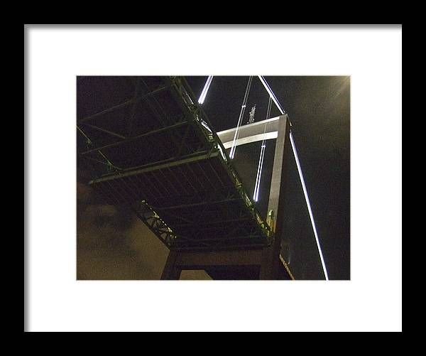 Night Framed Print featuring the photograph Bridge No 2 by Dan Andersson