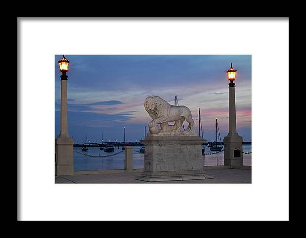 St. Augustine Framed Print featuring the photograph Bridge Of Lions by Shelley Wood
