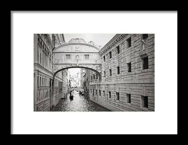 Venice Framed Print featuring the photograph Bridge of Sighs 5346-2 by Marco Missiaja