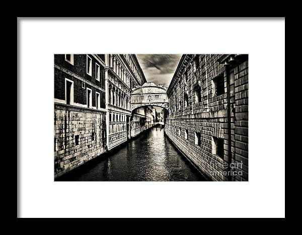 Bridge Framed Print featuring the photograph Bridge Of Sighs by Alessandro Giorgi Art Photography