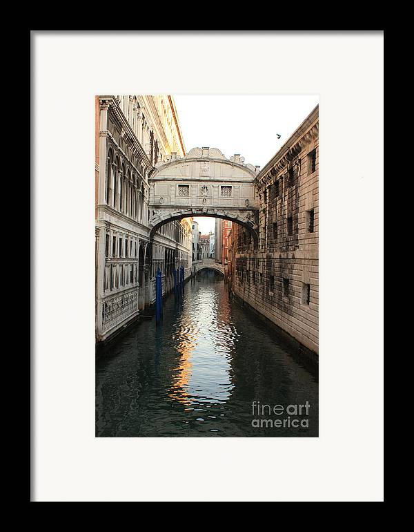 Venice Framed Print featuring the photograph Bridge Of Sighs In Venice In Morning Light by Michael Henderson