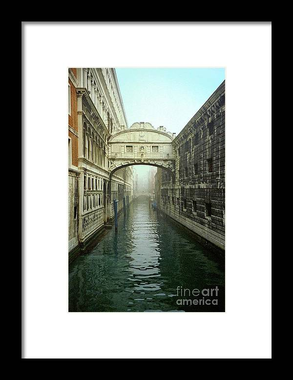 Venice Framed Print featuring the photograph Bridge Of Sighs In Venice by Michael Henderson
