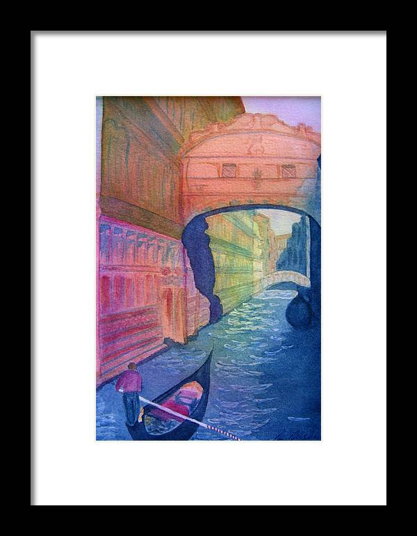 Venice Framed Print featuring the painting Bridge Of Sighs Venice by Dee Durbin