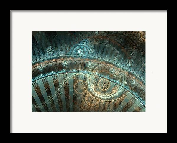 Fractal Framed Print featuring the digital art Bridge Of Time by David April