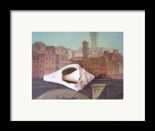 Shells Framed Print featuring the sculpture Bridge Over Florence by Geraldine Liquidano