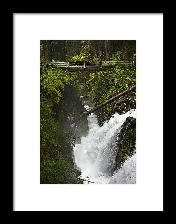 Bridge Framed Print featuring the photograph Bridge Over Water by Chad Davis