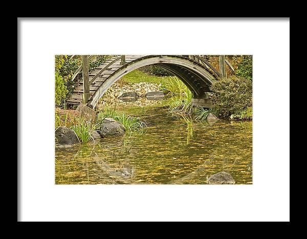 Landscape Framed Print featuring the photograph Bridge Reflections by Robert Joseph