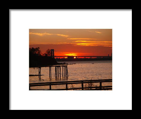 Photography Framed Print featuring the photograph Bridge Sunset by Bill Ades