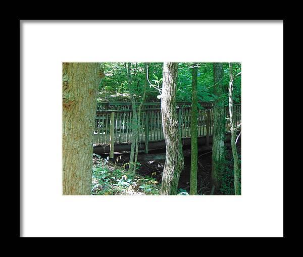Bridge Framed Print featuring the photograph Bridge To Calm by Karla Hoffman
