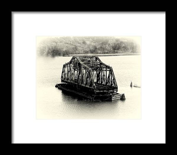 Structure Framed Print featuring the photograph Bridge To Nowhere by Lisa Jayne Konopka