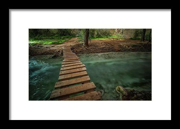 Havasu Falls Framed Print featuring the photograph Bridge To Paradise by Ryan Kelehar
