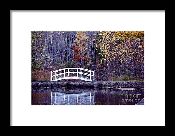 Bridge Framed Print featuring the photograph Bridge To Serenity by Faith Harron Boudreau