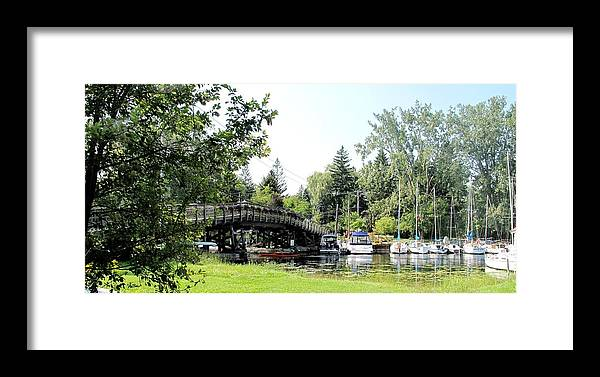 Yahcts Framed Print featuring the photograph Bridge To The Club by Ian MacDonald