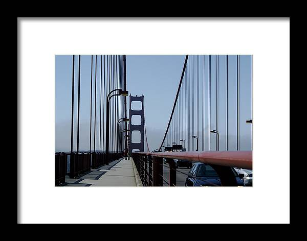 San Francisco Framed Print featuring the photograph Bridge Walk by Sonja Anderson