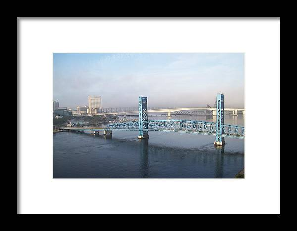 Framed Print featuring the photograph Bridges by Lillie Hibbler