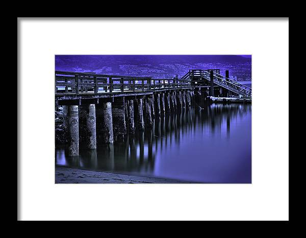 Landscape Framed Print featuring the photograph Bridging Gaps by Graham Vickers