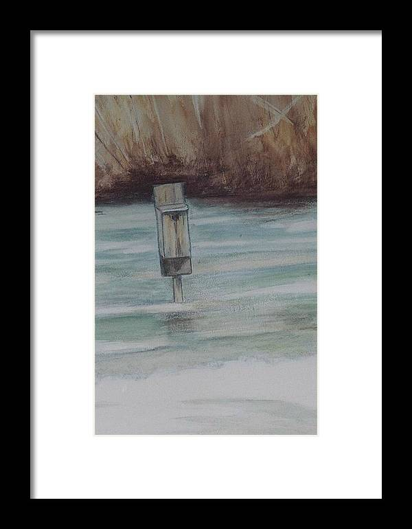 Duckbox Framed Print featuring the painting Brigham Pond Duck Box by Debra Sandstrom