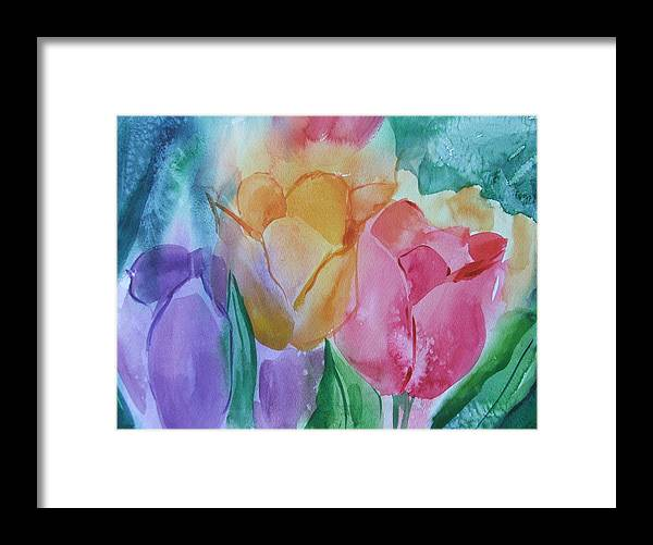 Floral Framed Print featuring the painting Bright And Pretty by Dianna Willman