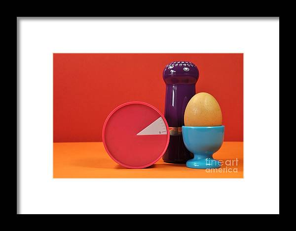 Red Framed Print featuring the photograph Bright Colorful Breakfast Trio by Milleflore Images
