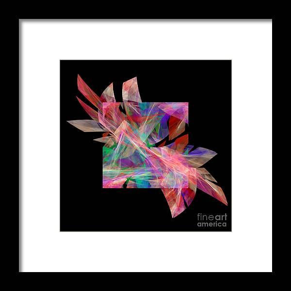 Abstract Framed Print featuring the digital art Bright Elegance B. by Galina Lavrova