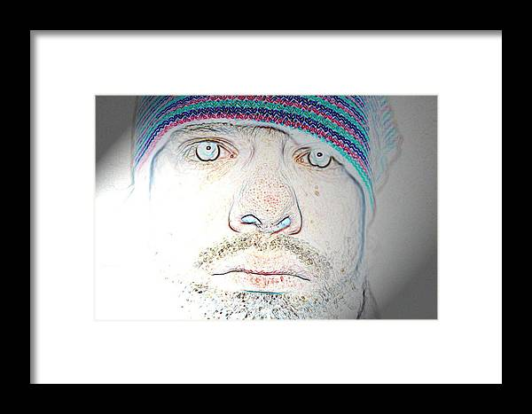 Bright Framed Print featuring the digital art Bright Face by Joshua Sunday