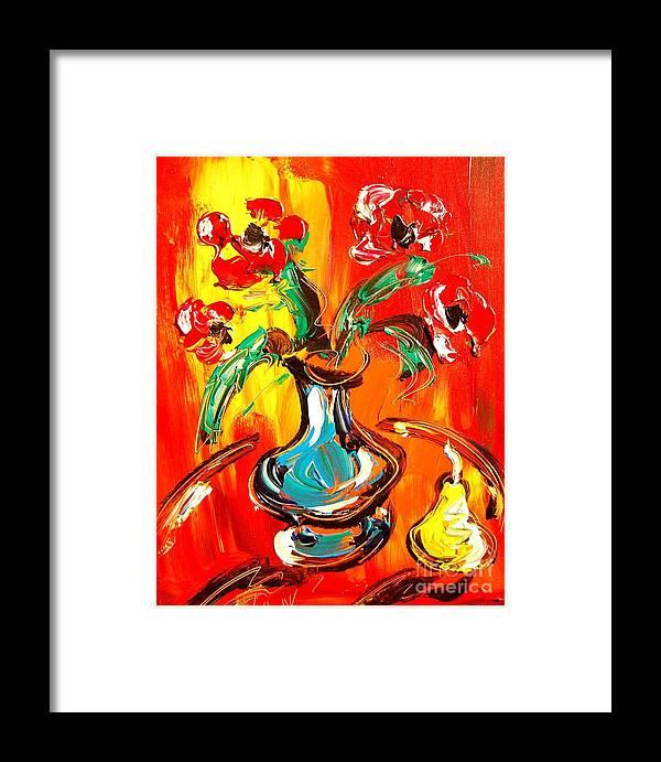 Framed Print featuring the digital art Bright Flowers by Mark Kazav