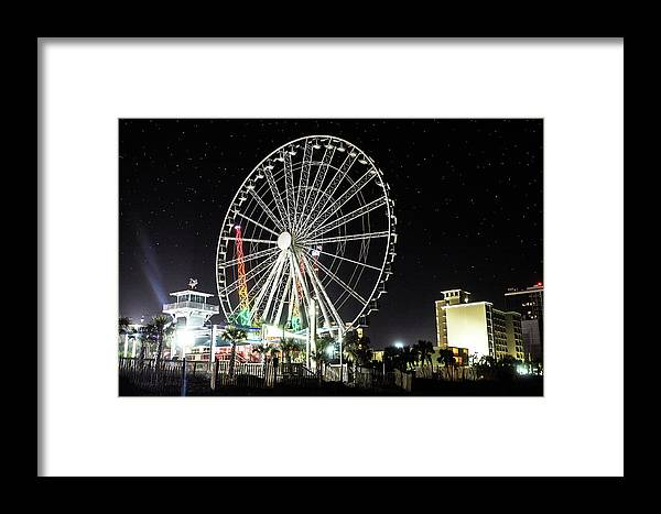 Myrtle Beach Framed Print featuring the photograph Bright Lights by Maria Daskalis