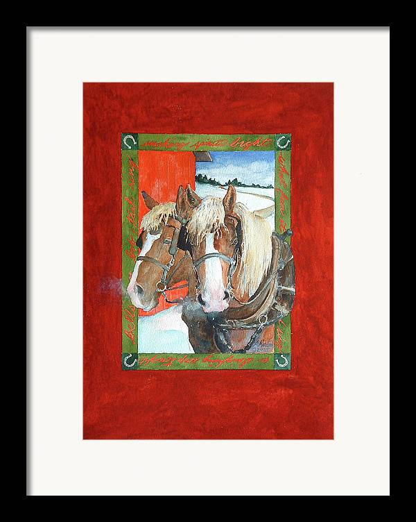 Horses Framed Print featuring the painting Bright Spirits by Christie Michelsen