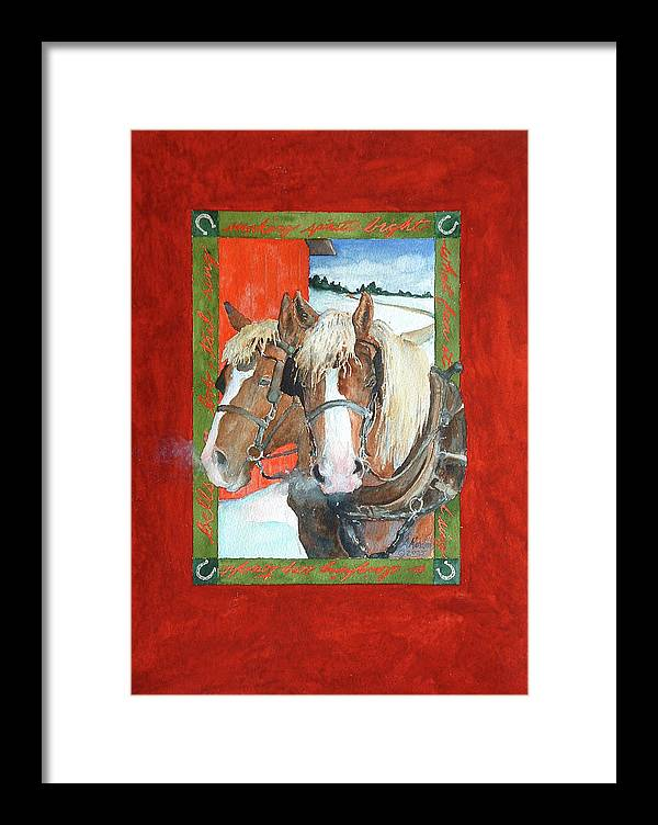 Horses Framed Print featuring the painting Bright Spirits by Christie Martin