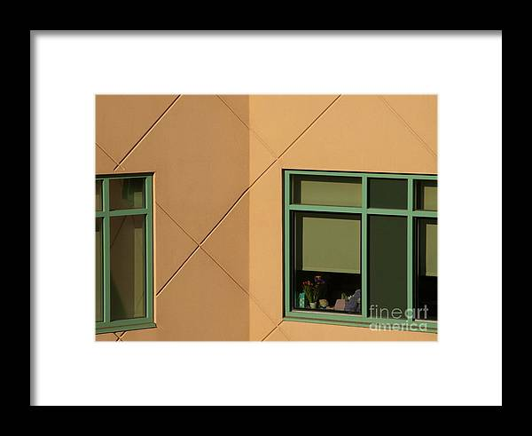 Windows Framed Print featuring the photograph Brightly Geometric by Ann Horn