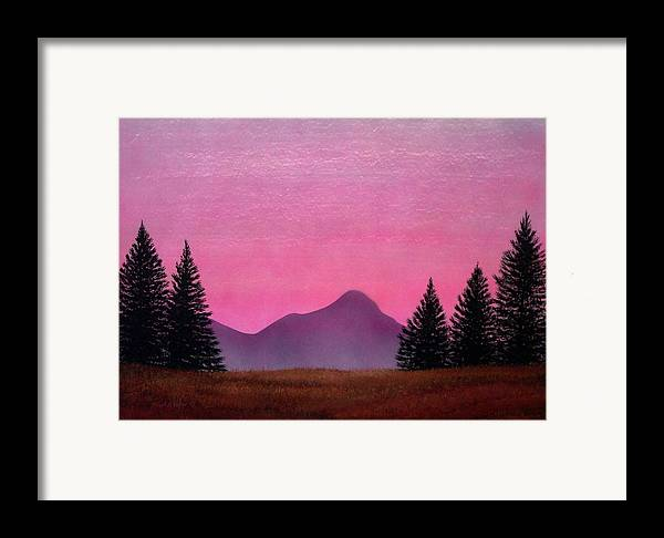 Landscape Framed Print featuring the painting Brightness by Frank Wilson