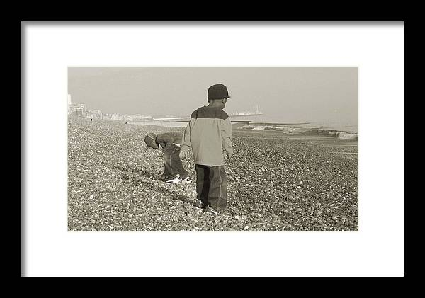 Picture Framed Print featuring the photograph Brighton by LeeAnn Alexander