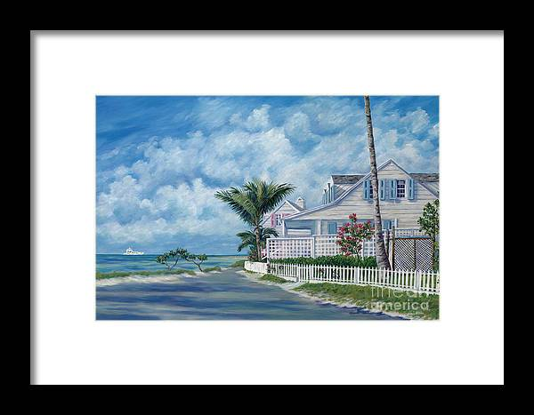 Harbor Island Framed Print featuring the painting Briland Breeze by Danielle Perry