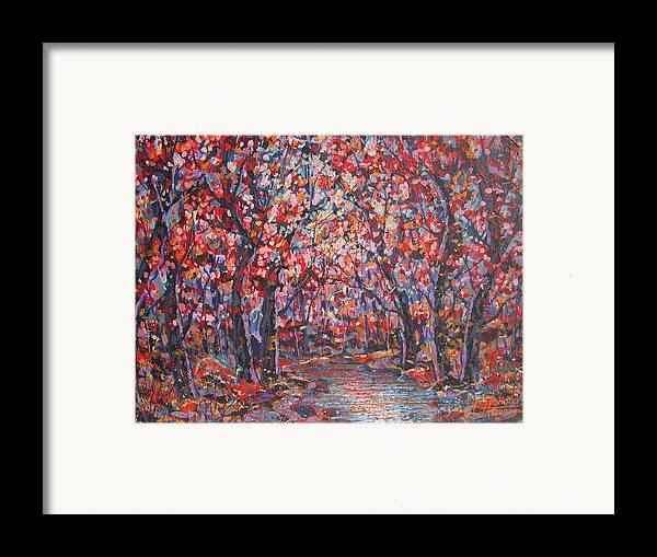 Forest Framed Print featuring the painting Brilliant Autumn. by Leonard Holland